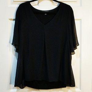 Banana Republic Black shirt sheer sleeves